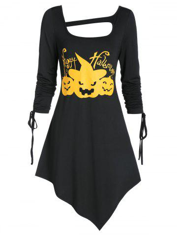Skew Collar Asymmetrical Cut Out Halloween Dress