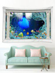3D Underwater World Pattern Printed Tapestry -