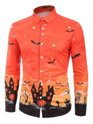 Bat House Printed Long Sleeves Shirt -