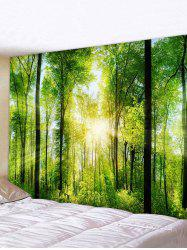 Sunlit Forest Printed Tapestry Wall Hanging Art Decoration -
