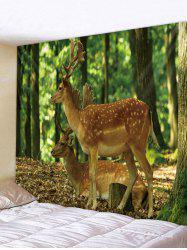 Forest Deer Print Tapestry Wall Hanging Art Decoration -