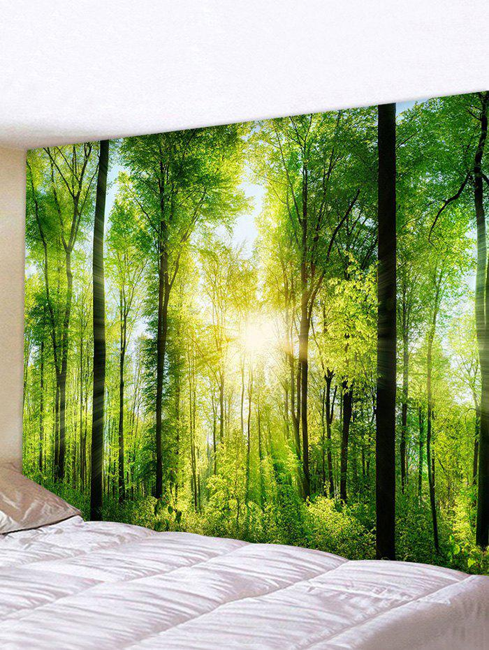 Store Sunlit Forest Printed Tapestry Wall Hanging Art Decoration