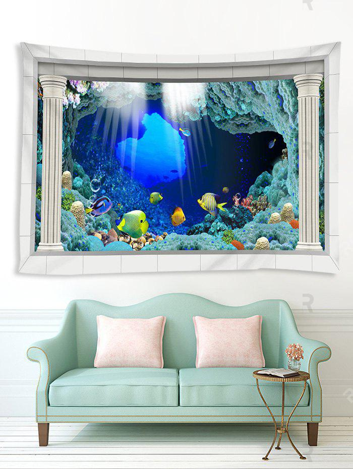 Latest 3D Underwater World Pattern Printed Tapestry