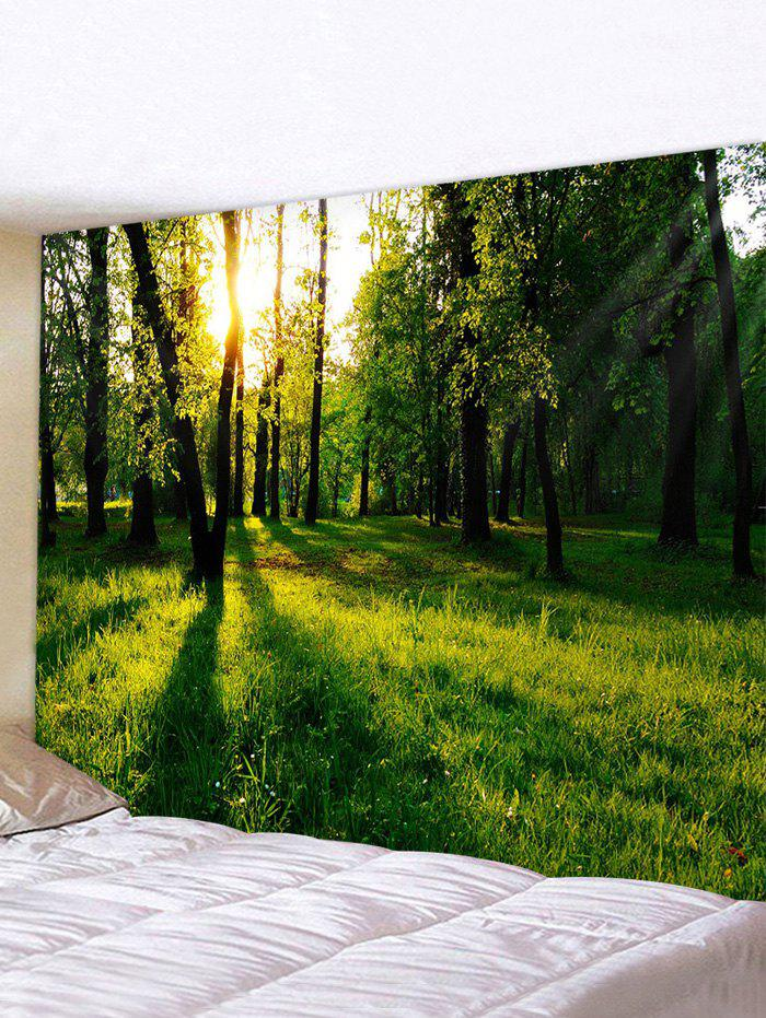 Hot Sunshine Forest Pattern Printed Tapestry