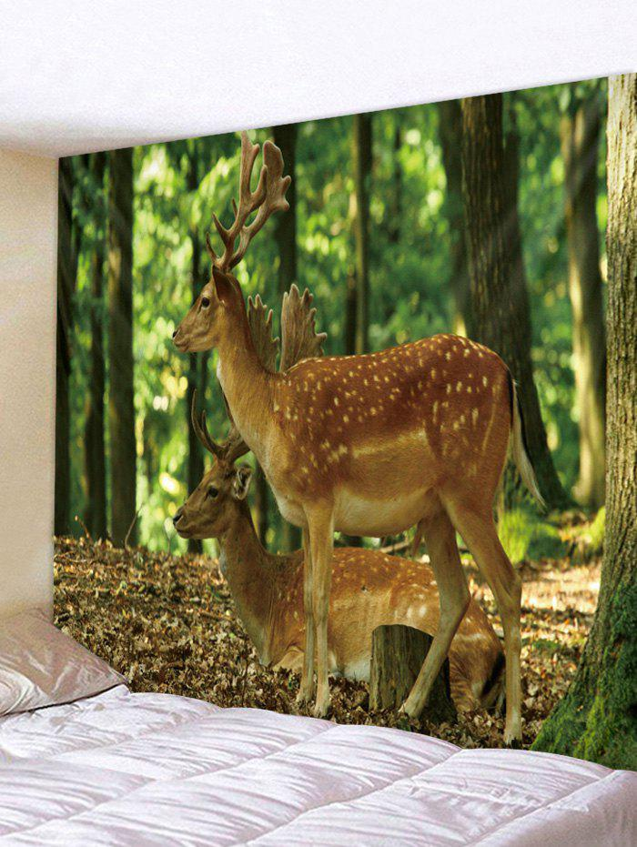 Affordable Forest Deer Print Tapestry Wall Hanging Art Decoration