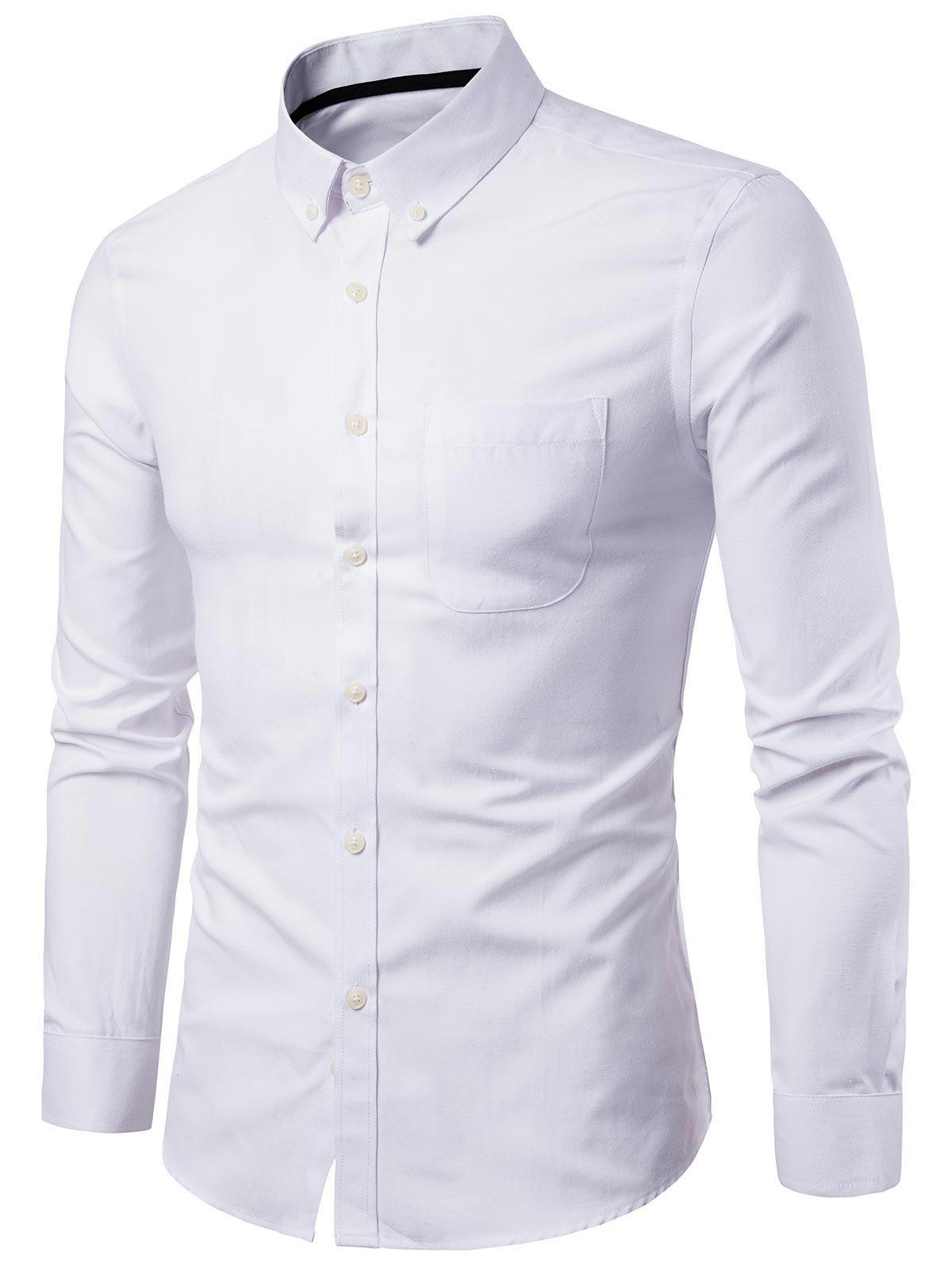 Shop Casual Solid Color Design Long Sleeves Shirt