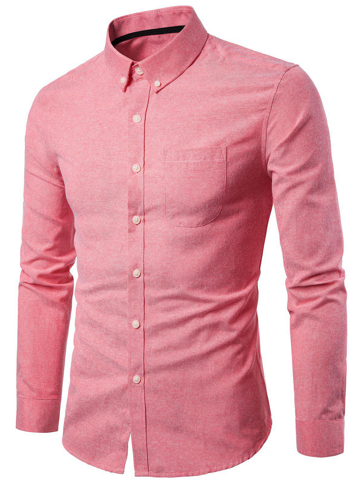 Latest Casual Solid Color Design Long Sleeves Shirt