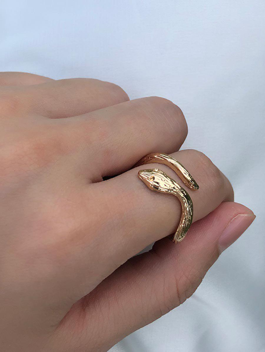 Online Alloy Snake Cuff Ring
