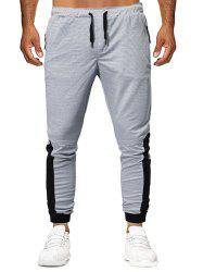 Color Block Design Casual Jogger Pants -