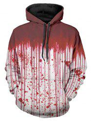 Halloween Blood Dripping Print Front Pocket Hoodie -