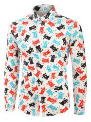 Cartoon Ghost Print Long Sleeves Shirt -