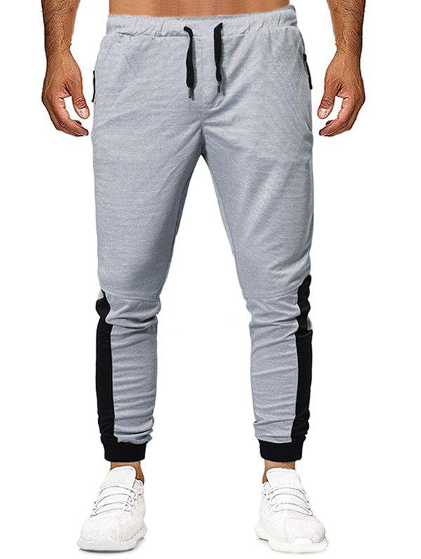 Unique Color Block Design Casual Jogger Pants
