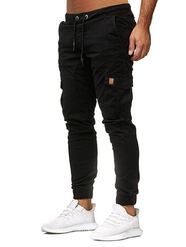 Outfits Solid Color Pocket Decoration Jogger Pants