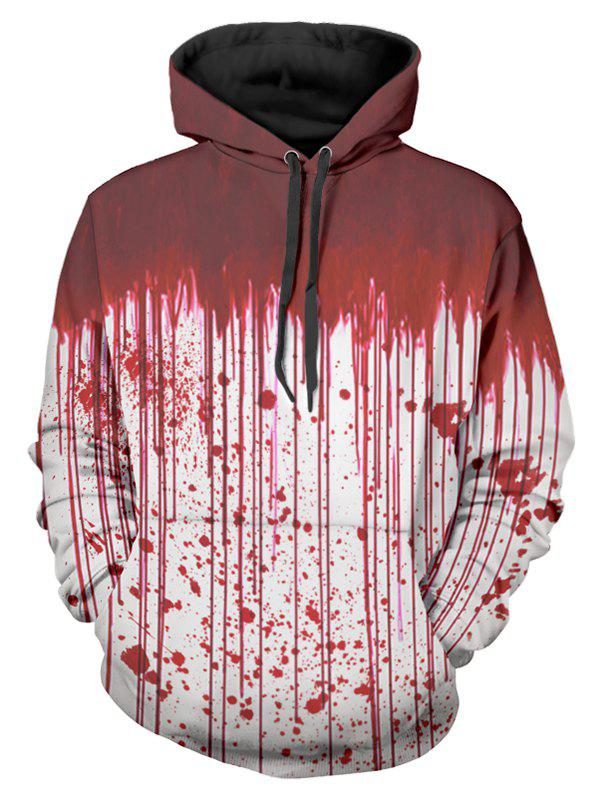 Outfit Halloween Blood Dripping Print Front Pocket Hoodie