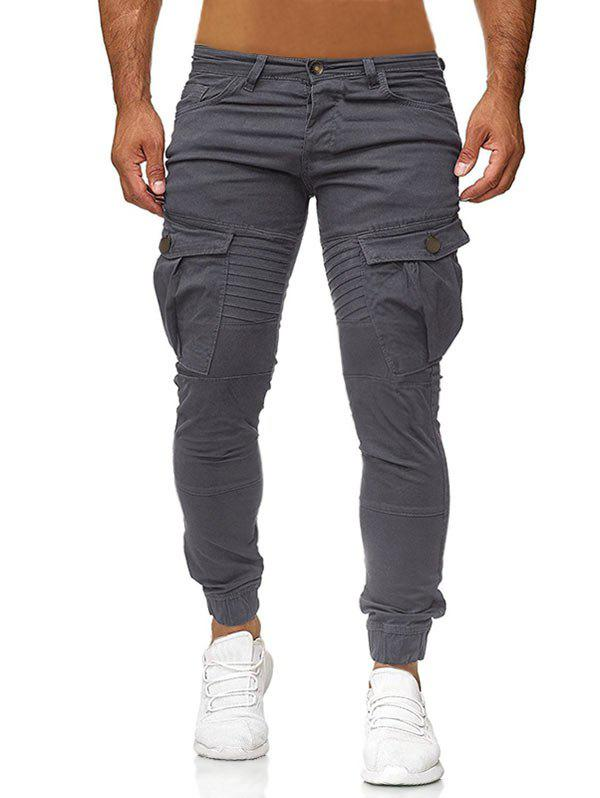 Online Pocket Decoration Casual Style Pants