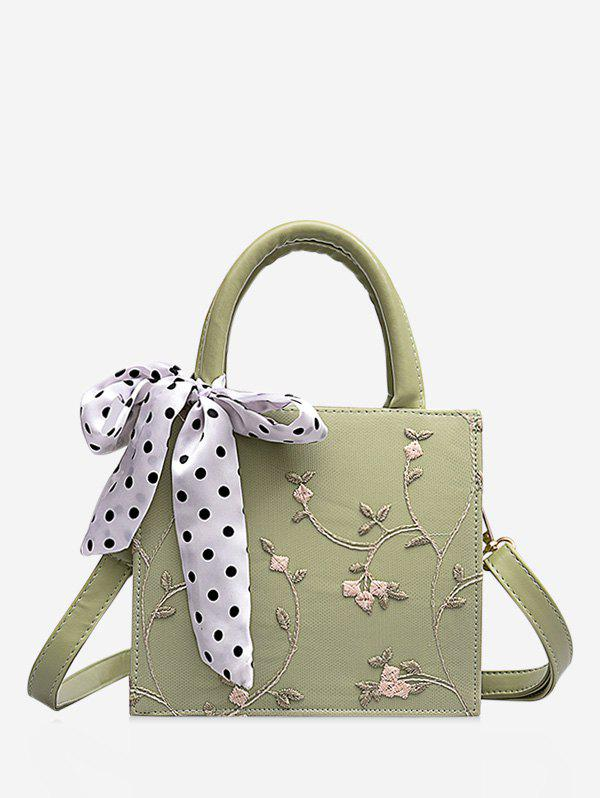 Buy Printed Silk Embellished Floral Lace Crossbody Bag