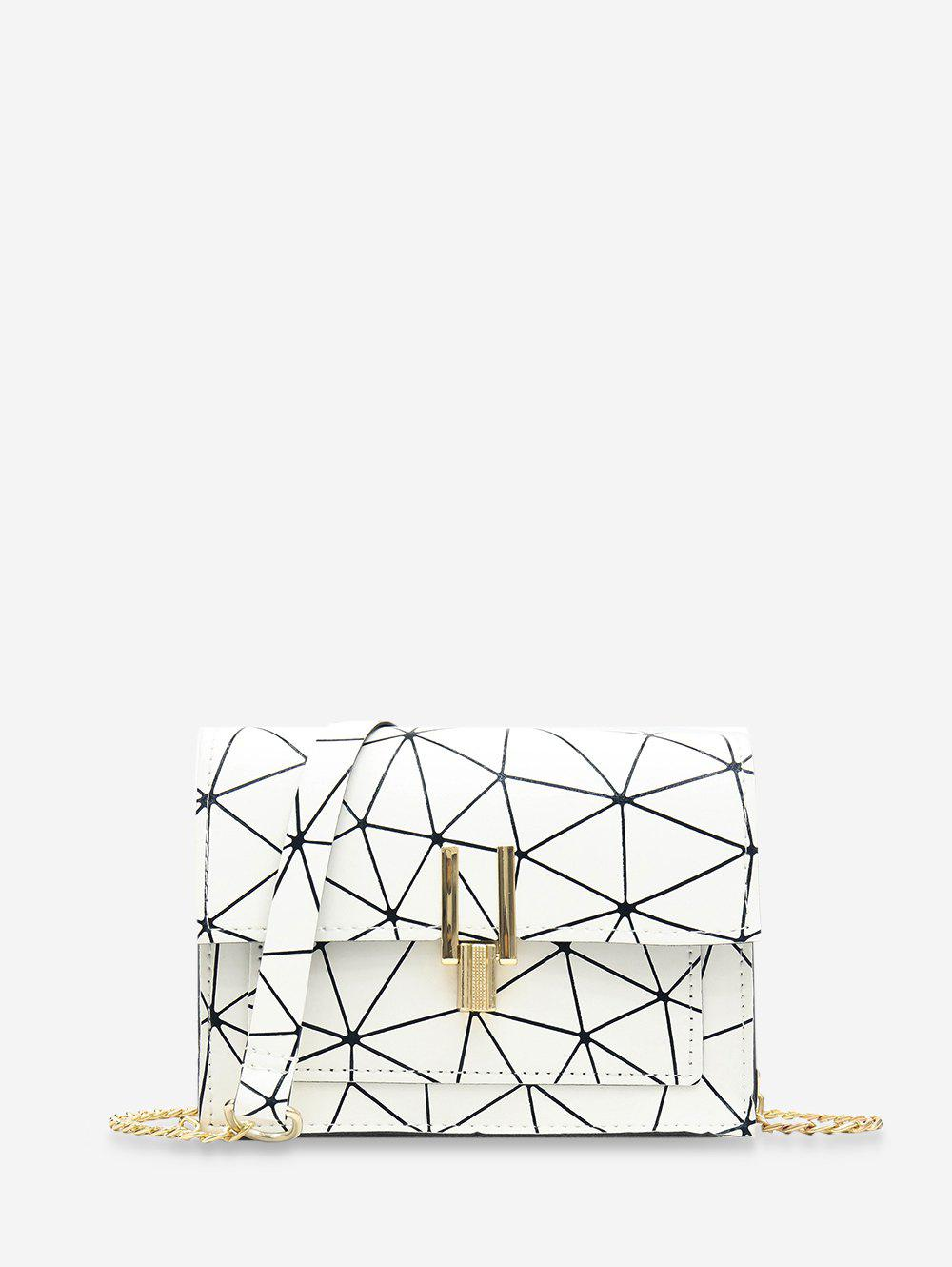 Store Chain Cover Geometric Crossbody Bag
