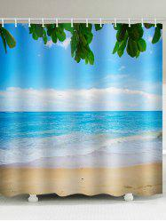 Beach Sea Printed Waterproof Shower Curtain -