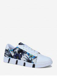 Ink Flower Print Skate Shoes -