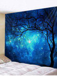 Starry Sky Tree Pattern Print Tapestry -