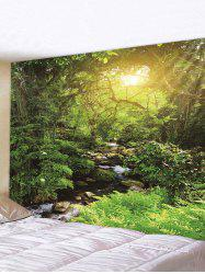 Sunlight Forest Stream Print Tapestry Wall Hanging Art Decoration -