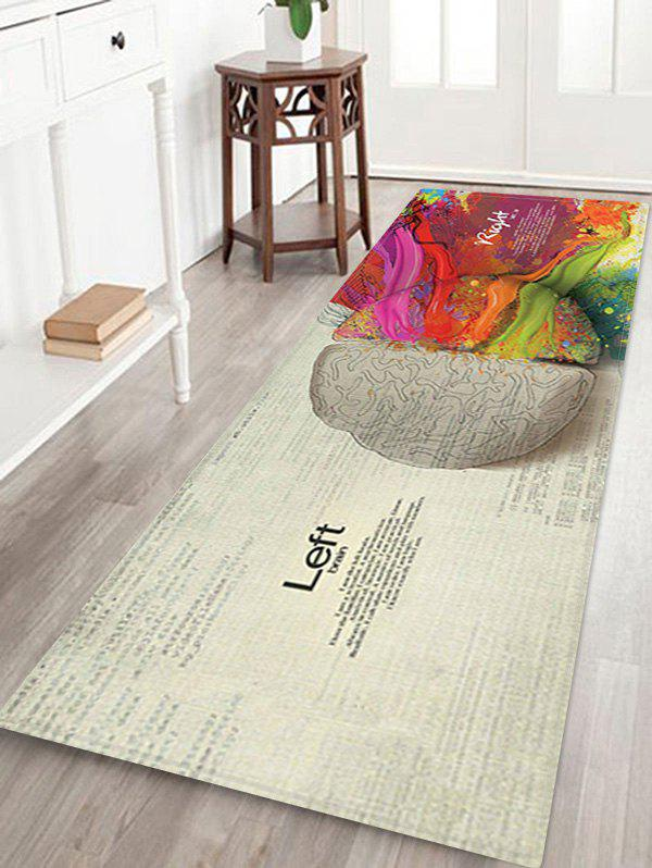 New Letter Brain Pattern 3D Print Floor Rug