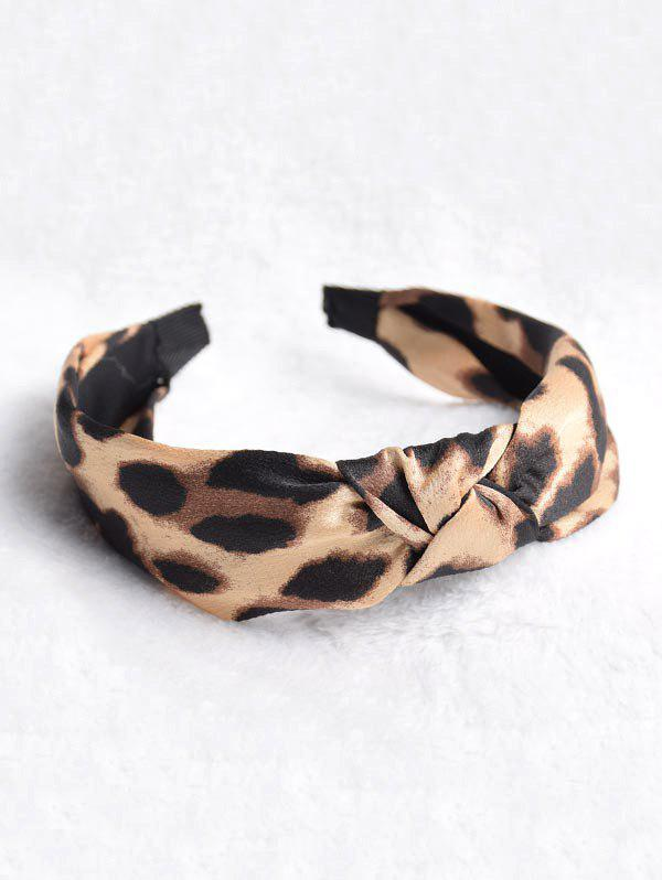 Discount Leopard Print Knotted Headband