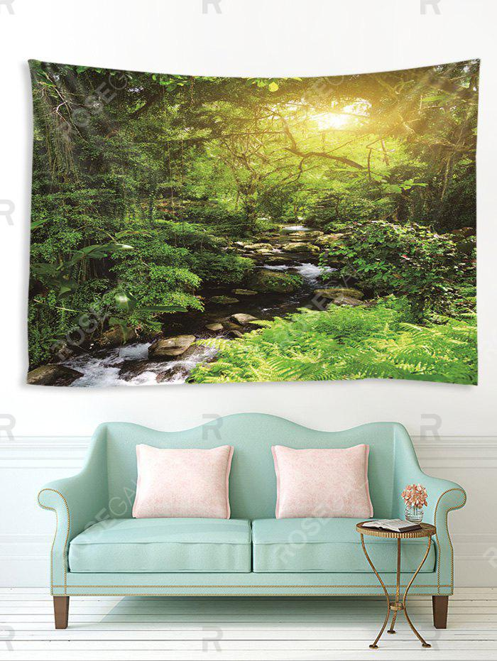 Cheap Sunlight Forest Stream Print Tapestry Wall Hanging Art Decoration