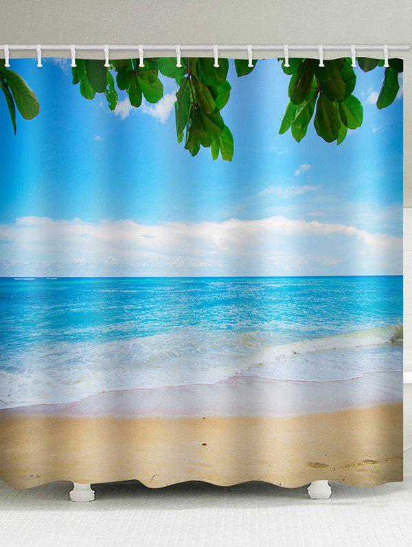 Outfits Beach Sea Printed Waterproof Shower Curtain