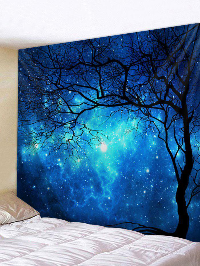 Fancy Starry Sky Tree Pattern Print Tapestry