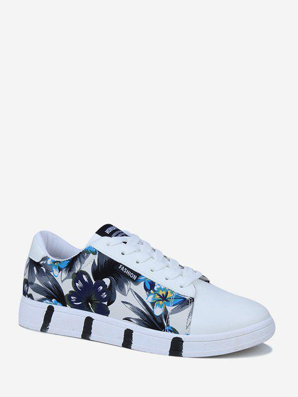 Discount Ink Flower Print Skate Shoes