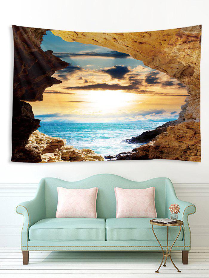 Cheap Sea Mountain Sunset 3D Print Wall Tapestry