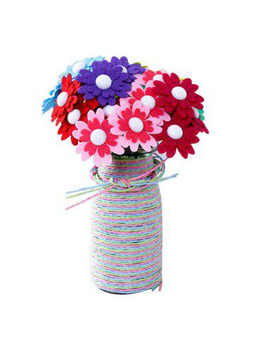 Handmade DIY Button Bouquet with Vase - MULTI-D