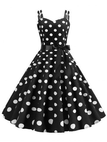 a9ebf506b8 Polka Dot Dress - 2019 Womens Retro Red And White Polka Dot Dresses ...