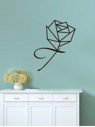 Geometric Rose Print Vinyl Wall Art Stickers -
