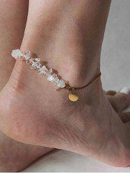 Simple Disc Natural Stone Chain Anklet -