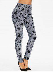 Star Print High Waisted Gothic Leggings -