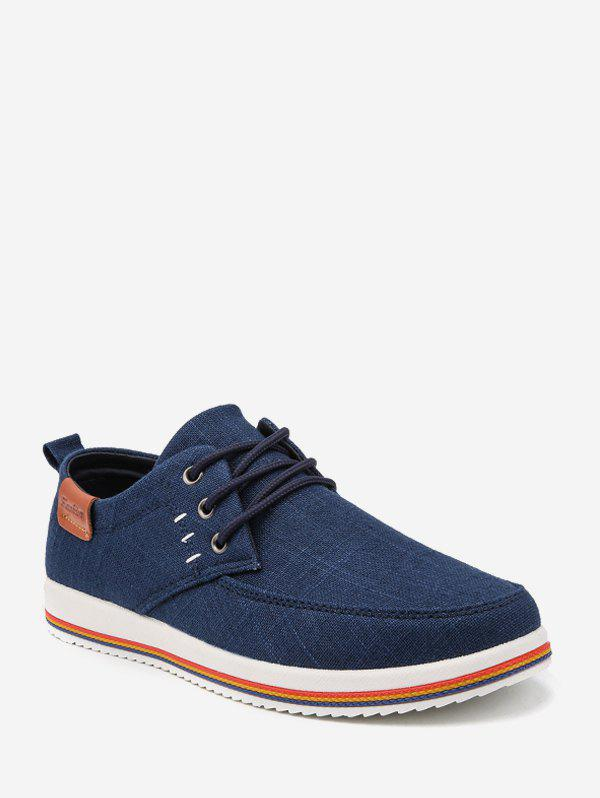 Latest Striped Sole Cloth Casual Shoes