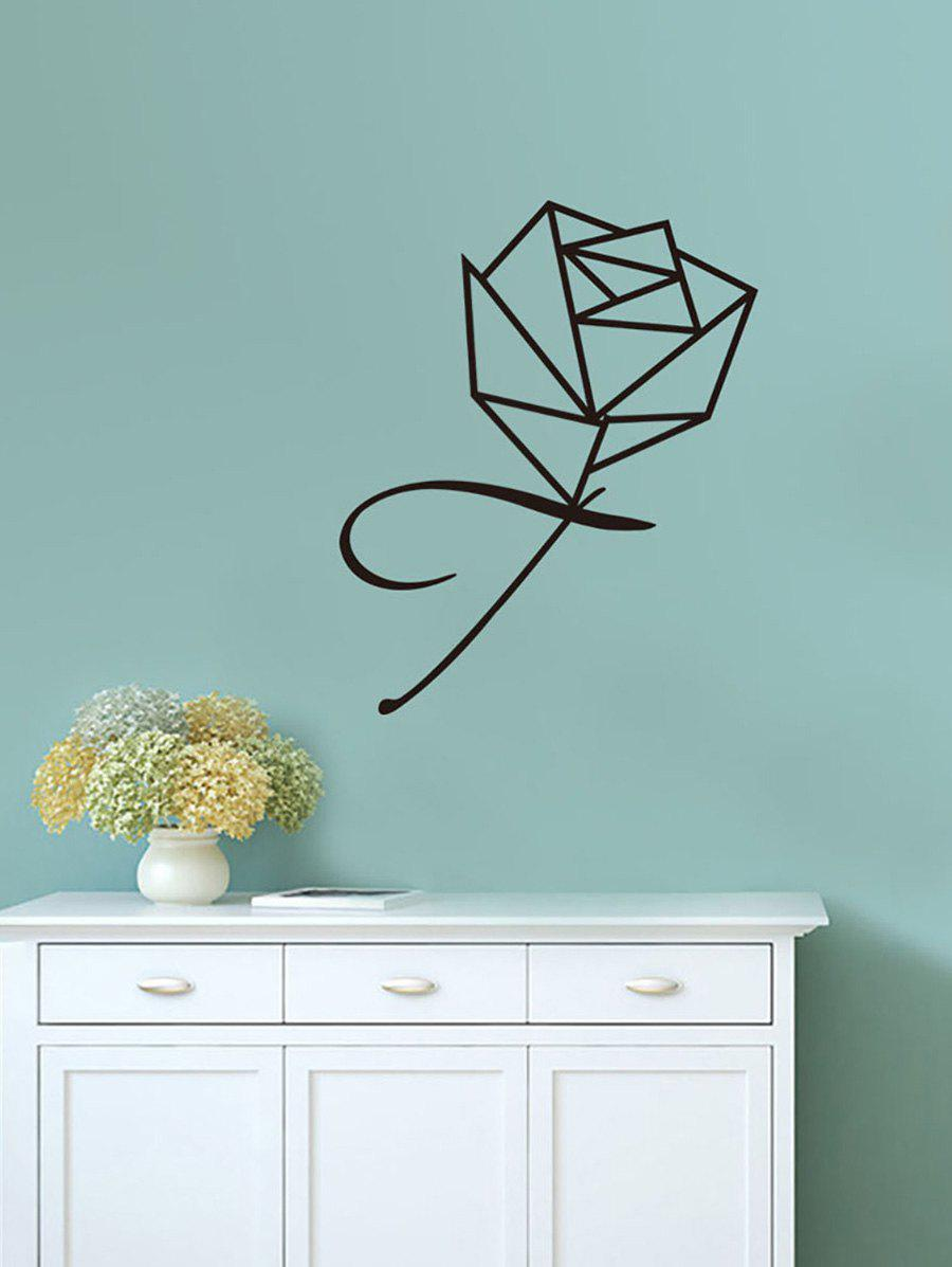 Fancy Geometric Rose Print Vinyl Wall Art Stickers
