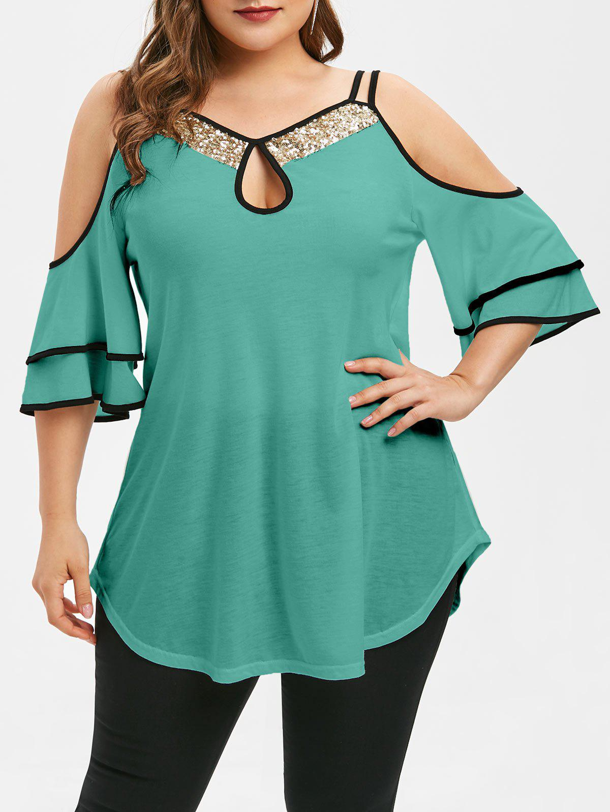 V by Very RRP £25 Cold Shoulder Short SleeveAll Over Lace Top