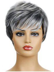 Side Bang Straight Synthetic Short Hair Wig -