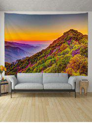 Sunset Mountain Pattern Printed Tapestry -