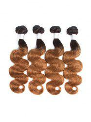 Human Remy Body Wave Ombre Hair Weft -