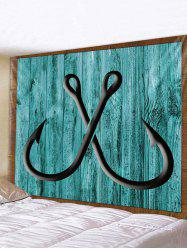 Wooden Board Hook Print Tapestry Wall Hanging Art Decoration -