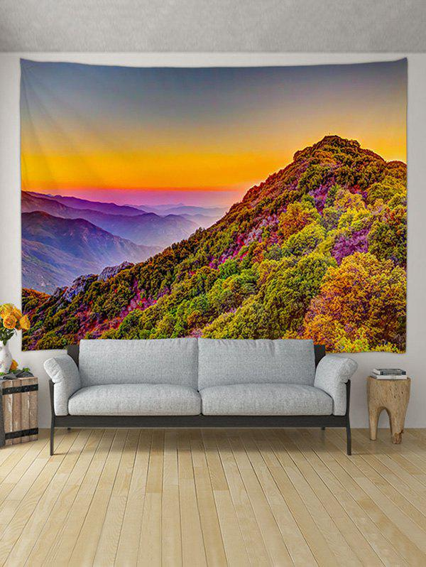 Fancy Sunset Mountain Pattern Printed Tapestry