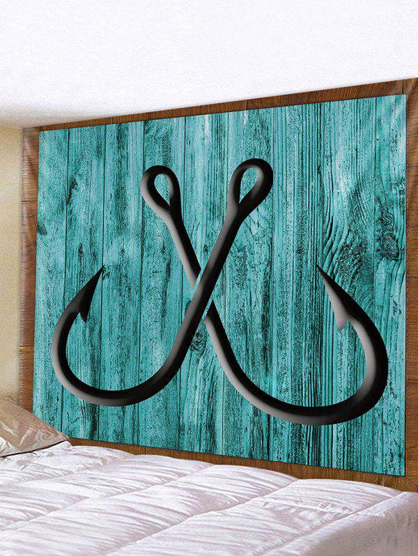 Sale Wooden Board Hook Print Tapestry Wall Hanging Art Decoration
