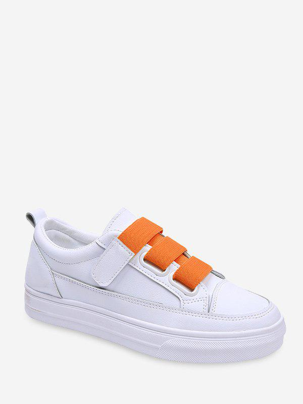Chic Contrast Hook Loop PU Skate Shoes