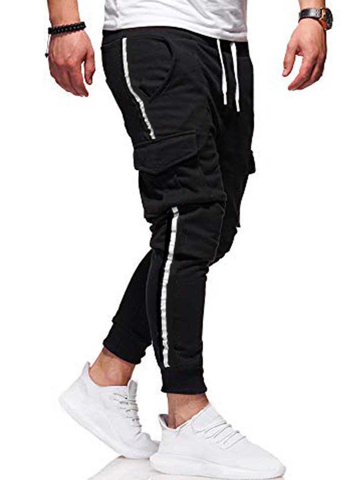 Chic Pocket Design Casual Knitted Jogger Pants