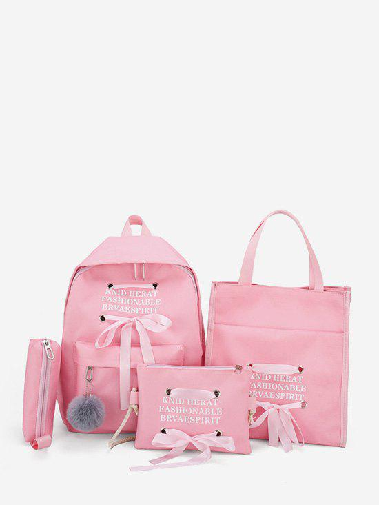 Cheap 4Pcs Student Canvas Backpack Set