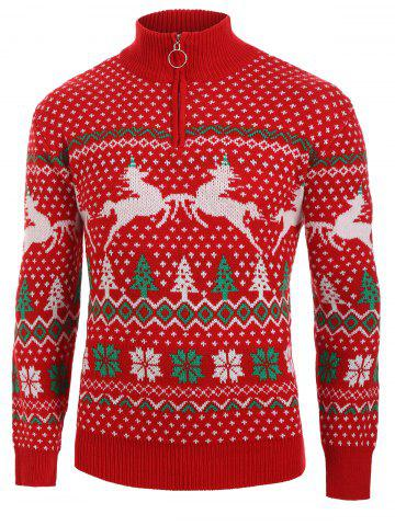 Christmas Trees Print Long Sleeves Sweater